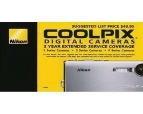 NIKON 2 Year Extended Warranty for CoolPix L22 S3000 S4000 S6000 S8000 S5100