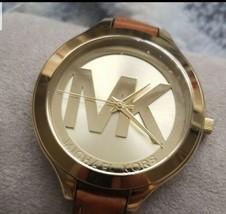 Michael Kors Pyper 38 mm Gold Stainless Steel Case Women's Brown Wrist Watch,... - $77.22