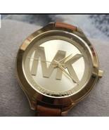 Michael Kors Pyper 38 mm Gold Stainless Steel Case Women's Brown Wrist W... - $77.22