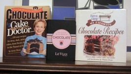 3 books containing Chocolate recipes, cake and otherwise - $7.52