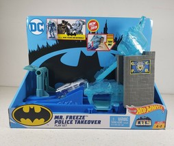 New DC Hot Wheels City Mr. Freeze Police Takeover Play Set Ages 4-8 New - $23.60