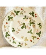 """TWO WEDGWOOD Dinner Plates WILD STRAWBERRY 10.75"""" NICE - $59.00"""