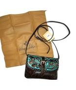 Patricia Nash Torri Turquoise Tooled Leather Crossbody Bag Purse handbag - $120.93
