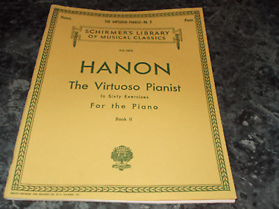 Hanon The Virtuoso Pianist in Sixty Exercices for the Piano Vol 1072 book II