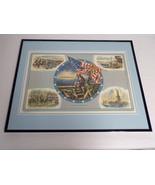 VINTAGE 1974 US History Francis Scott Key Robert Lee Framed 16x20 Poster... - $79.19
