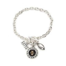 Inspired Silver Idaho Vandals Pendant Love Football Charm Silver Plated ... - $610,54 MXN