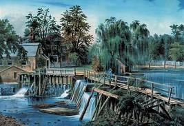 Mill-Dam by Nathaniel Currier - Art Print - $19.99+