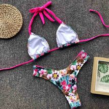 Sexy Women Print Bikini Set PushUp Pad Swimwear Swimsuit Ethnic Wind Color image 8