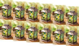 Twelve (12) metal stained glass solar garden yard patio deck floral lant... - $231.00