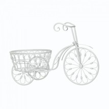 White Bicycle Planter - $44.57