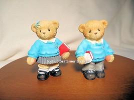 Cherished Teddies British School Boy & Girl  2003 Used No Box - $41.53