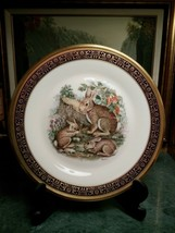 "Lenox Boehm Cottontail Rabbits Collector Plate (1975) 24 K Gold Trimmed. 10.5"" - $27.93"
