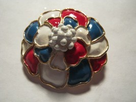 marked Hollycraft pin of red white and blue - $12.86