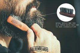 Vegan Beard Brush - Vegetal Bristles for Beard and Moustache from Golden Beards  image 2