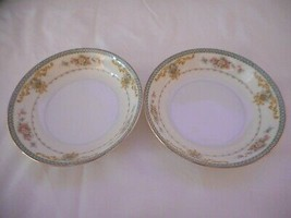 Lot of 2 Vintage Floral Berry Small Bowls ROE 11 by  Royal Embassy China - $12.86