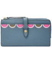 Fossil Fiona Leather Tab Wallet Clutch, Faded Indigo $75 - $49.73