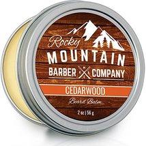 Beard Balm - Rocky Mountain Barber - 100% Natural - Premium Wax Blend with Cedar image 2