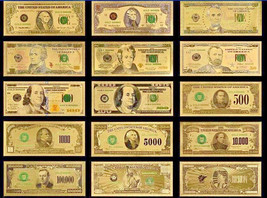 <MINT UNC. FULL SET> $1-$1B Rep.* Banknotes W/COA~STUNNING COLOR Detail! - $46.82