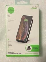 Studio by Belkin 10W Wireless Charging Stand (F7U084-BLK) New in Package