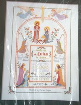 Nativity Sampler Counted Cross Stitch 1989 NOS Unopened Kit Creative Circle - $44.54