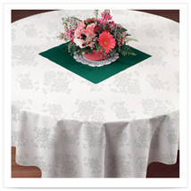 82 x 82 Linen Like Silver Prestige Tablecover/Case of 24 - $180.00