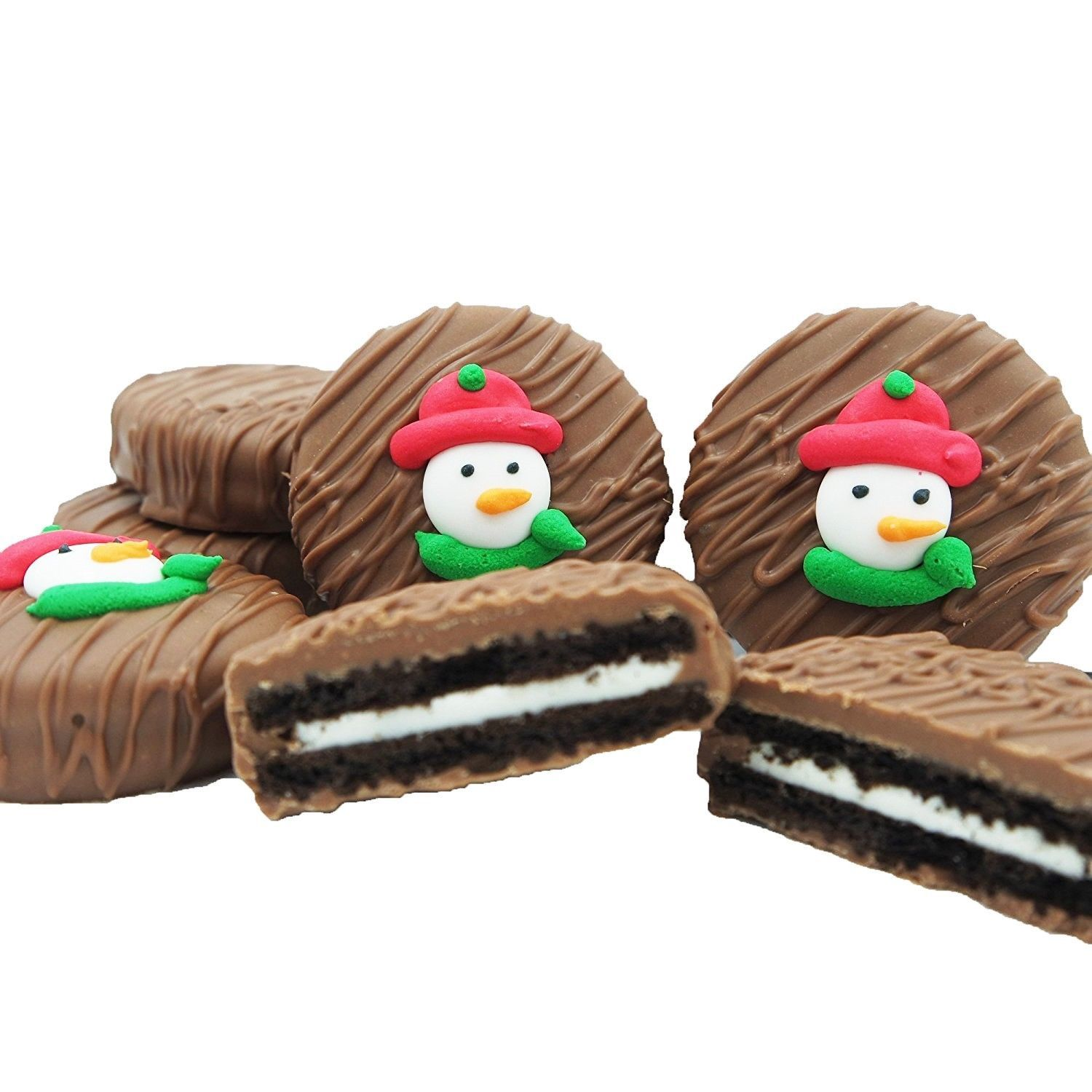 Primary image for Philadelphia Candies Winter Holiday Snowman Face Milk Chocolate OREO® Cookies