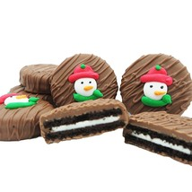 Philadelphia Candies Winter Holiday Snowman Face Milk Chocolate OREO® Cookies - $15.79