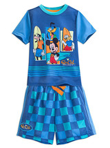 "Disney Store Boys Mickey Mouse and Friends ""Fab 4"" PJ Pals Short Sleep Set, Blue - $17.00"