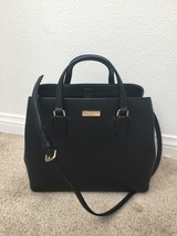 $360 NWT KATE SPADE BLACK Laurel Way Evangelie Satchel WKRU3930 - ₨12,121.17 INR