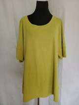 Lane Bryant Olive Green T Shirt New Short Sleeve Round Neckline New Tags 18/20 - $22.77
