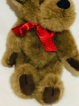 """Boyds Bears Christmas Holiday Moose 12"""" Plush w/Red Bow, Collectible 1990 - $11.46"""