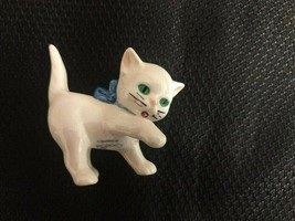 Small kitten with blue bow figurine; Goebel, West Germany - $12.20