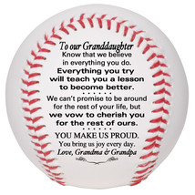 Custom Baseball To Our Granddaughter Graduation, Birthday, Christmas Gift - $34.95