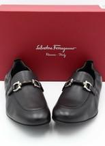 NIB Salvatore Ferragamo Celso Black Leather Gancini Bit Slip-On Loafers 8.5 E - $345.00