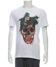 M-346219 Neu Alexander Mcqueen Herren Totenkopf T-shirt IN Weiß Größe M - £138.82 GBP