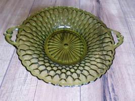 1960s Green Dish Tray Indiana Vintage Sandwich Bowl Depression Glass Pla... - $24.34