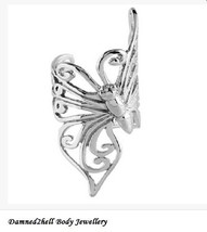 Butterfly Ear Cuff - Surgical Steel - For Ear Rim ~ Squeeze Fit ~ One Piece - $7.87