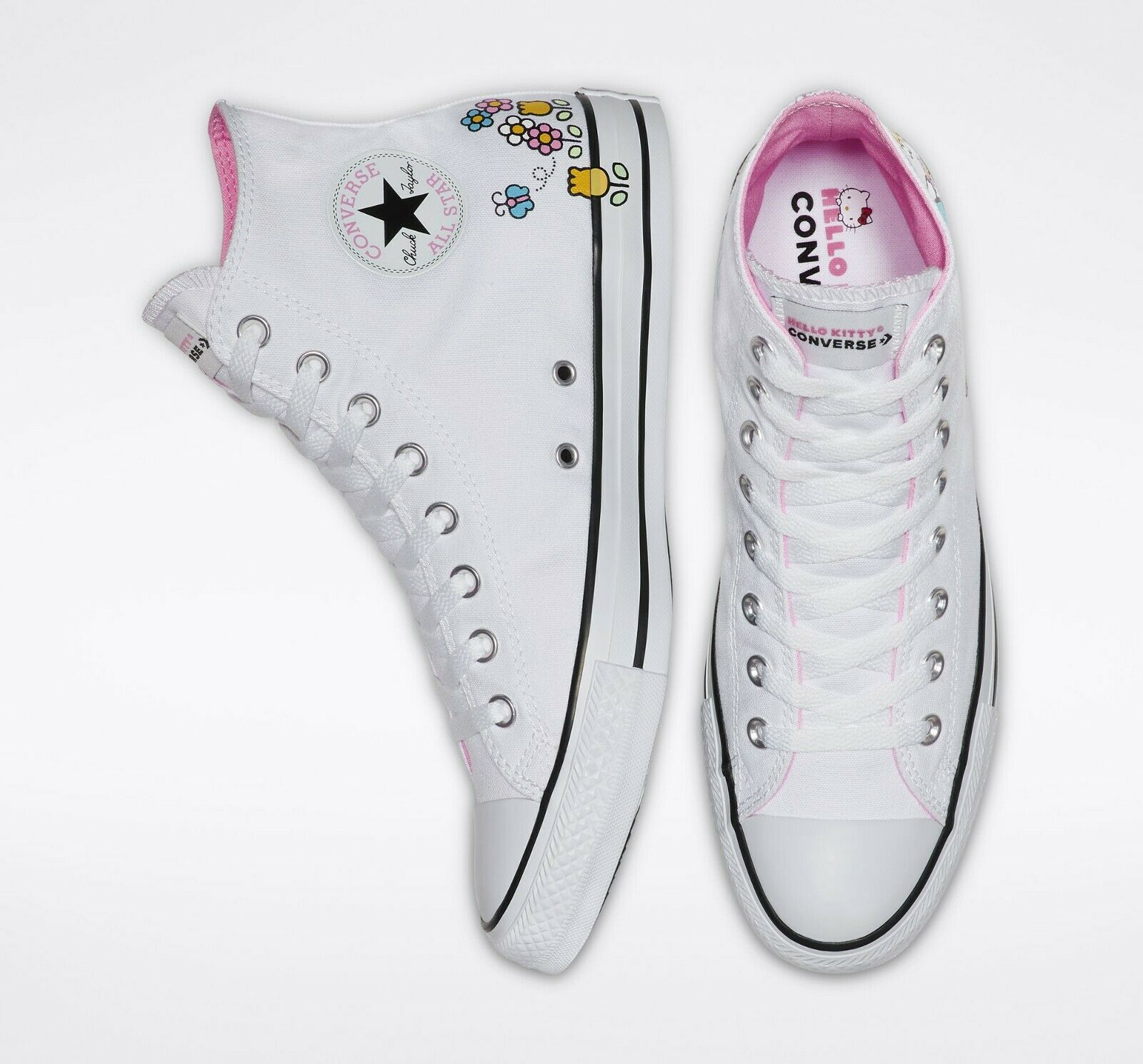 Converse x Hello Kitty Chuck Taylor All Star High Top, 164629F Multi Sizes White image 7