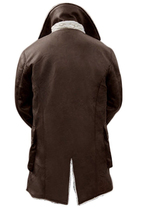 Bane Coat Dark Knight Rises Synthetic Leather Fur Buffing Brown Trench Jacket image 2