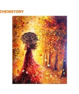 Beautiful Women Autumn Landscape DIY Painting By Numbers Modern Wall Art... - $14.01