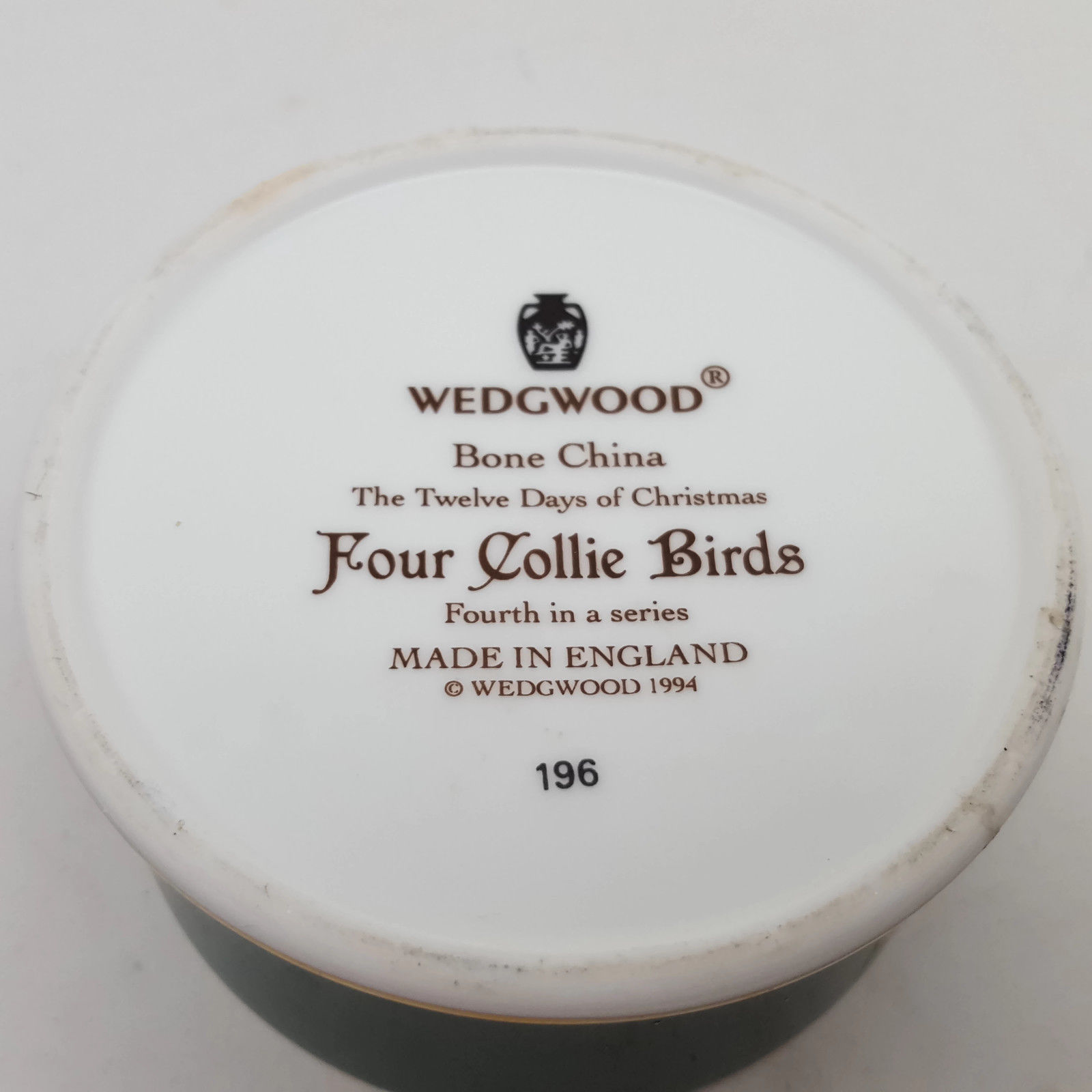Wedgwood 4 Collie Birds Twelve Days Of Christmas Bone China Trinket Box image 4