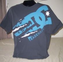 DC, Men's Charcoal Gray T-Shirt, Blue/White DC Trademark Logo, Size XXL  - $23.09