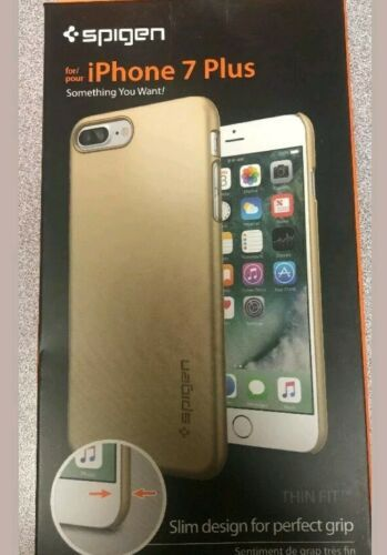 For iPhone 7 Plus [Spigen] Case Cover [Thin Fit] Champagne Gold (043CS20734)