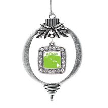 Inspired Silver Hawaii Outline Classic Holiday Christmas Tree Ornament With Crys - €12,87 EUR