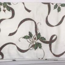 Lenox Christmas Holiday Holly & Tartan Ribbon Bath Towel All Over Design - $21.03