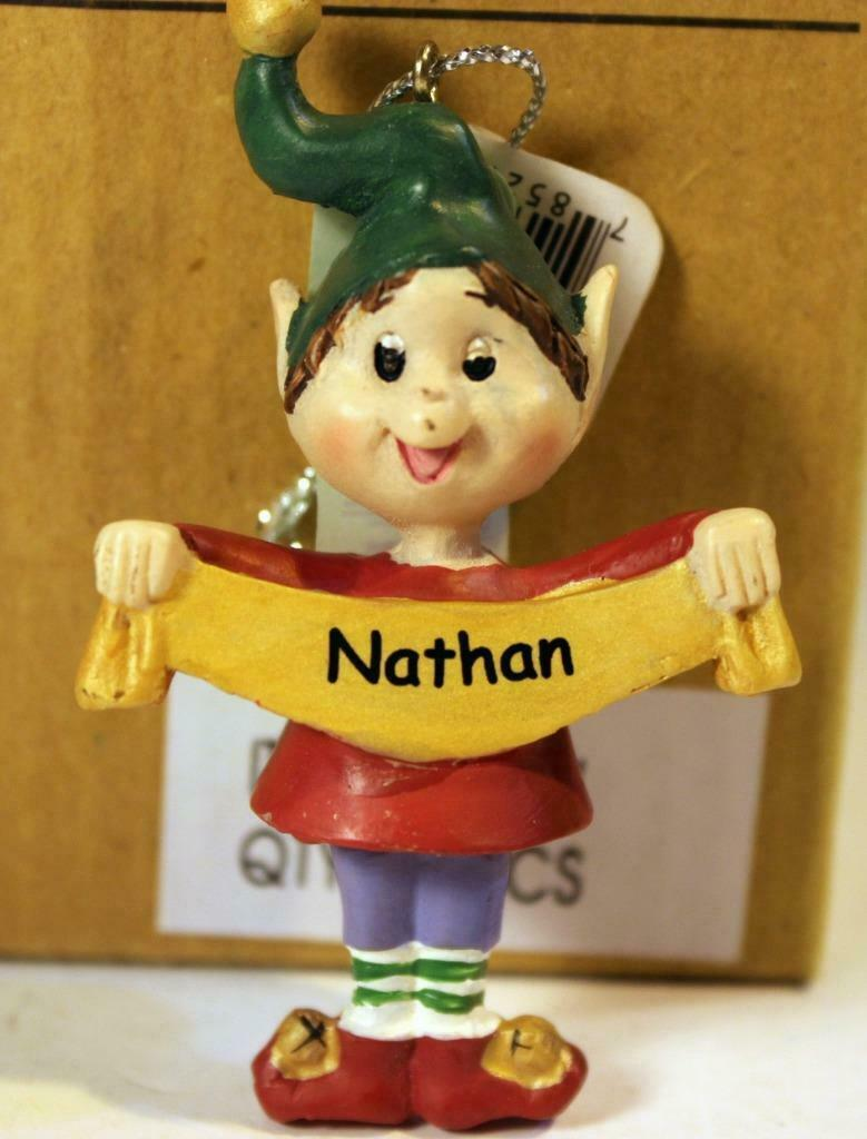 Primary image for CHRISTMAS ORNAMENTS WHOLESALE- RUSS BERRIE- #13771- 'NATHAN'-  (6) - NEW -W74