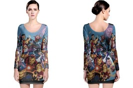 Marvel Illuminati 3 Women's Long Sleeve Bodycon Dress - $25.80+