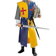 Viking Renaissance Blue/Yellow Color Medieval Tunic for Armor Cosplay Th... - $79.00