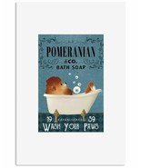 Bath Soap Company Pomeranian Poster Art Print Decor - Great Gift For Dog... - $25.59+
