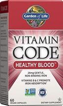 Garden of Life Vitamin Code Iron Supplement Healthy Blood - 60 Vegan Capsules... - $18.74